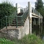 Lucy's Mill Bridge steps